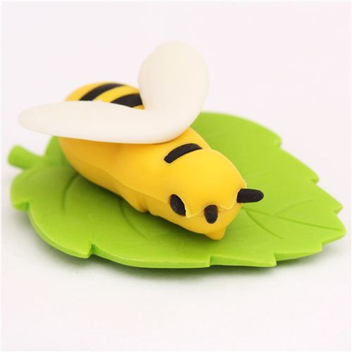 yellow bee animal eraser by Iwako from Japan