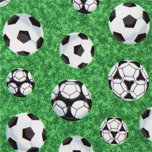 green soccer football fabric for boys Sports
