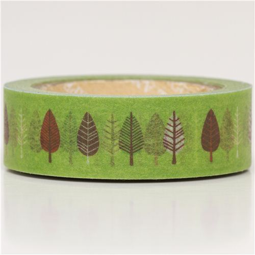green leaf Washi Masking Tape deco tape