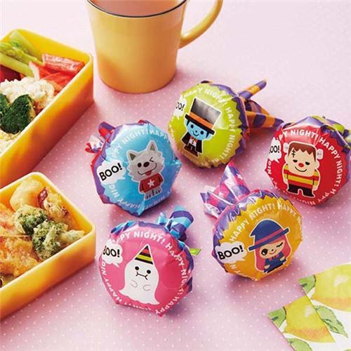 Halloween bento box food rice ball wrapping papers
