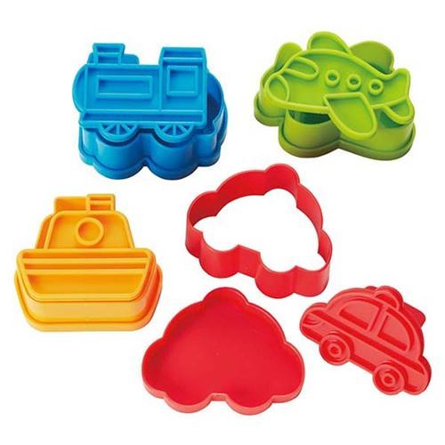 boat airplane train car transport vehicle Bento food cutters
