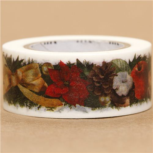 Christmas table decoration mt Washi deco tape bow
