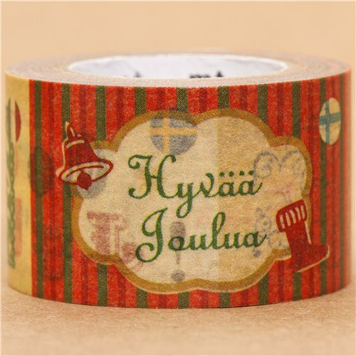 Merry Christmas mt Washi deco tape in many languages