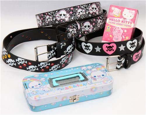 belts, Hello Kitty fan and pencil case