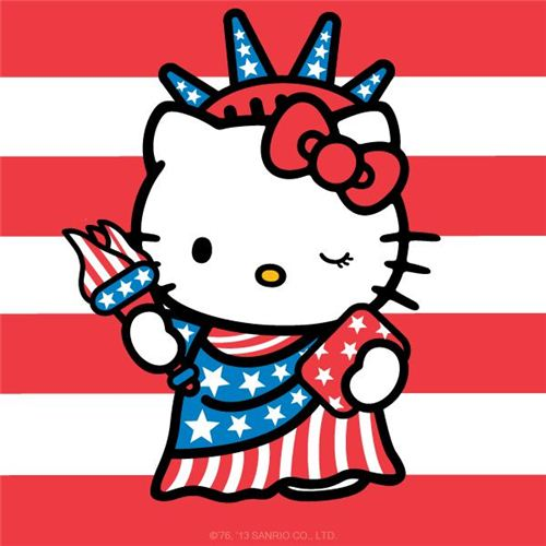 Happy 4th of July with Hello Kitty
