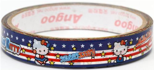 Hello Kitty American Flag Deco Tape Sticky tape kawaii