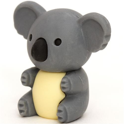 grey koala bear eraser by Iwako from Japan