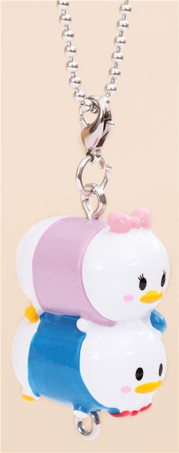Mini Disney Donald Daisy Duck charm cellphone strap