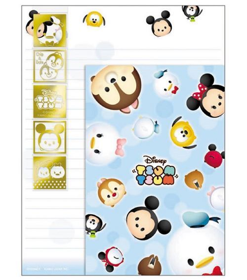 cute Disney Mickey Minnie Letter Paper Set by Kamio from Japan