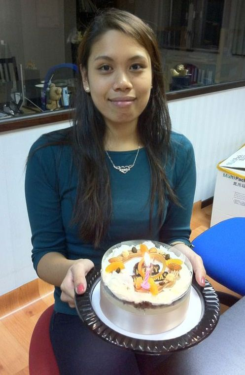 Veronica with her birthday cake