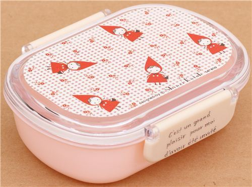 pink Shinzi Katoh Little Red Riding Hood Bento Box Lunch Box from Japan