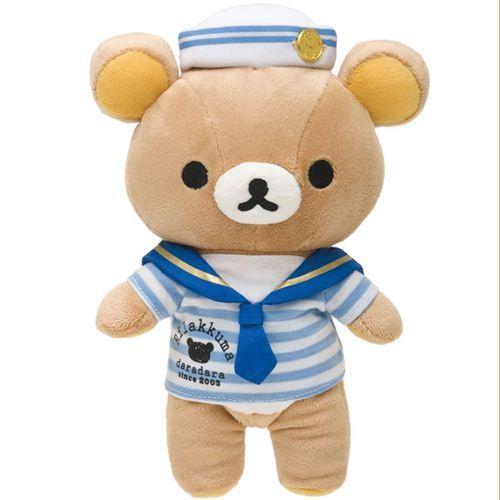 Rilakkuma plush toy brown bear as sailor kawaii