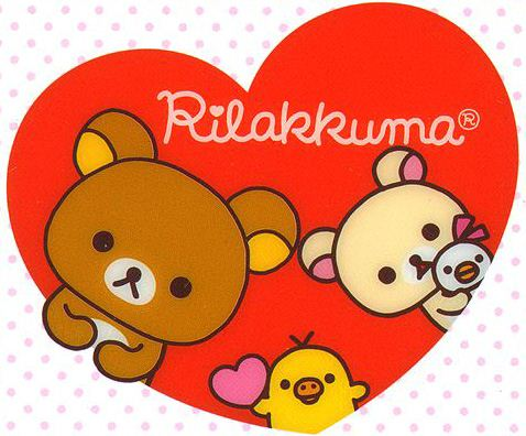 We say HAPPY VALENTINES DAY with Rilakkuma and friends