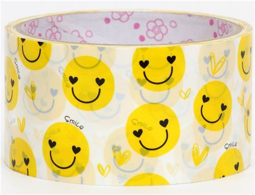 cute big yellow smiley Deco Tape kawaii