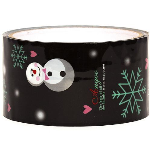 black snowman Sticky Tape christmas snowflakes