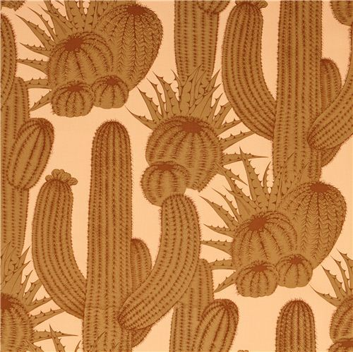 ochre heavy oxford fabric Tucson cactus Alexander Henry