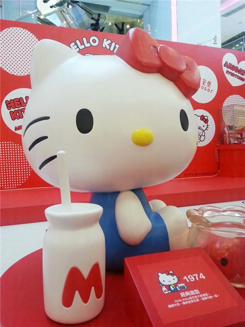 The original Hello Kitty design from 1974, picture from U-Tavel Hong Kong
