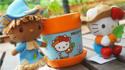 Some of the Hello Kitty merchandising that you can purchase on the farm