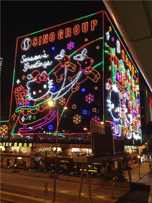 This year there are super cute Hello Kitty lights in Hong Kong