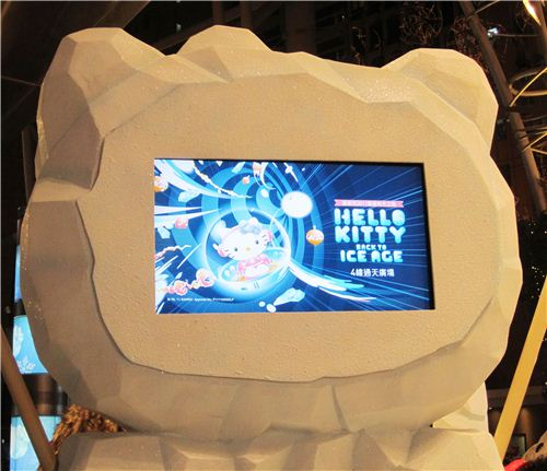 cute Hello Kitty shaped monitors show the official poster