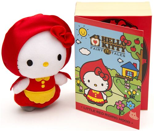 Win the cute Little Red Riding Hood Hello Kitty plush toy