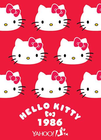 Hello Kitty x Yahoo e-cards 1986