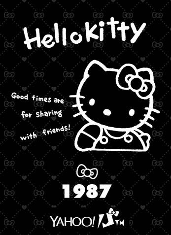 Hello Kitty x Yahoo e-cards 1987