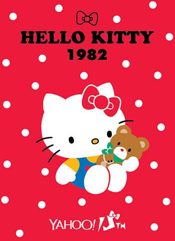 Hello Kitty x Yahoo e-cards 1982