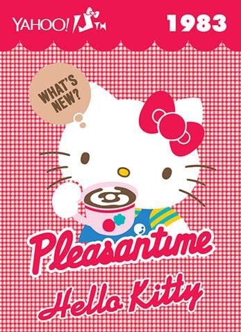 Hello Kitty x Yahoo e-cards 1983