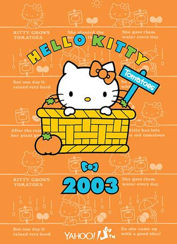 Hello Kitty x Yahoo e-cards 2003