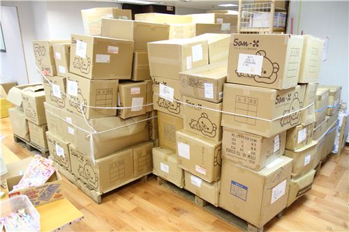 We received 2 tons of products in more than 200 boxes