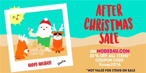 Hurry! Our After Christmas Sale on modeS4u ends soon!