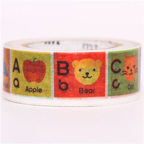 ABC alphabet A until M mt Washi Masking Tape deco tape