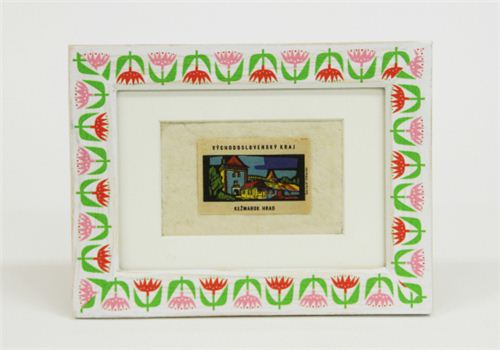 The pretty tulip Masking tape by Bengt & Lotta looks awesome on this picture frame