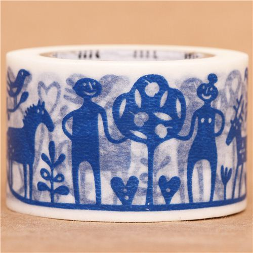 wide Adam and Eve mt Washi Masking Tape deco tape