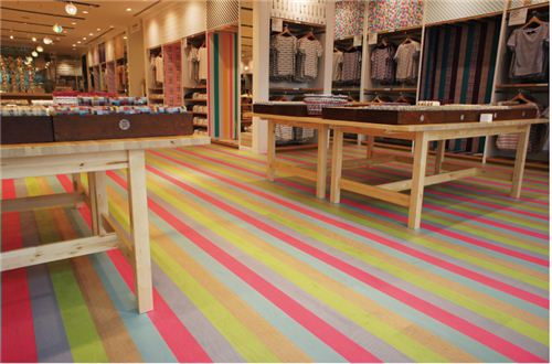 Even the floor is designed in Washi tape style