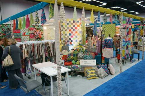 The beautiful Kokka booth at the Spring Quilt Market