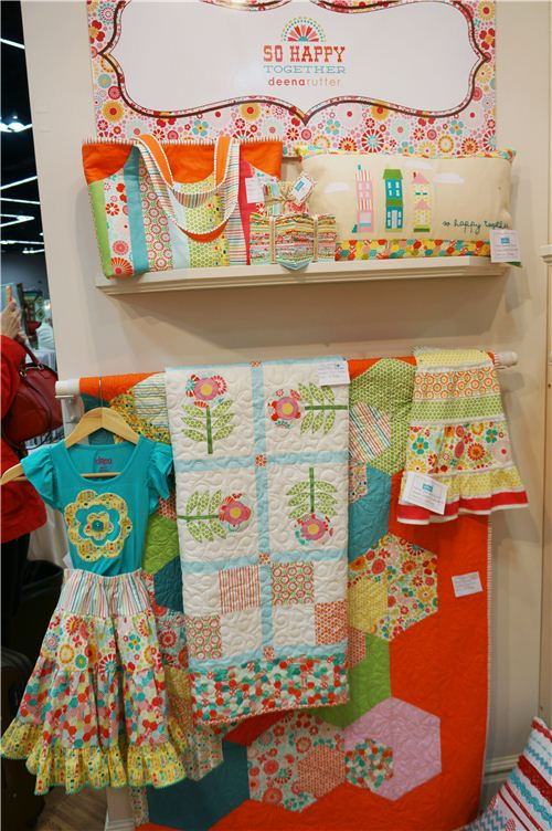 Colourful fabrics from Deena Rutter's So Happy collection