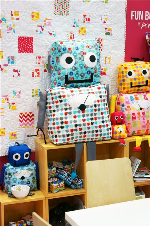 We loved the plush robots made with Ann Kelle's Funbots collection