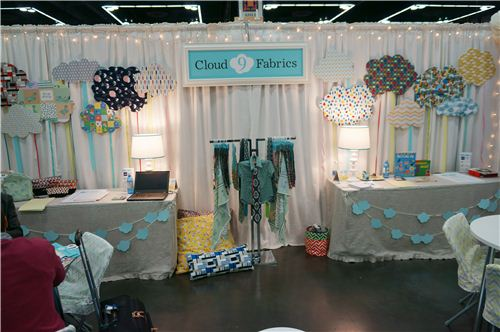 We loved the booth of Cloud 9 Fabrics and will offer some of their fabrics in our shop really soon