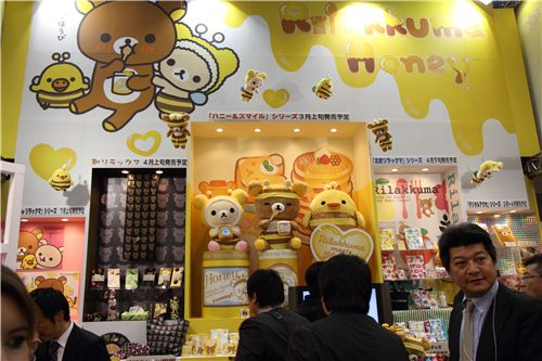 San-X's booth at the Tokyo Gift Show 2011