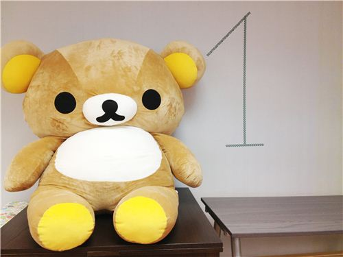 He is our hero and beloved mascot, the one and only giant Rilakkuma bear