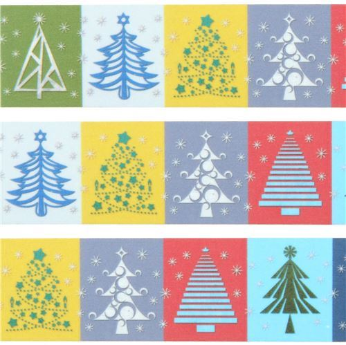 mt Washi Masking Tape colorful tree deco tape Merry Christmas
