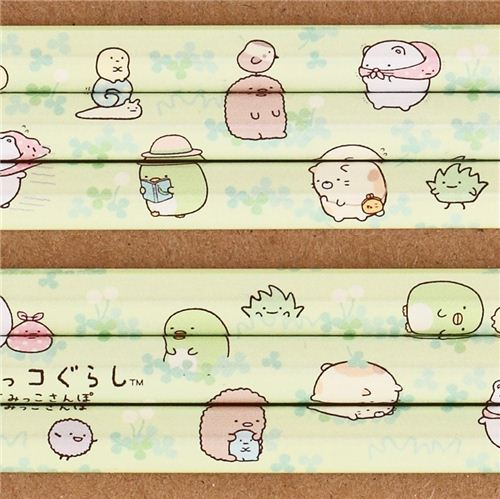 green Sumikkogurashi pencil shy animals meadow clover San-X