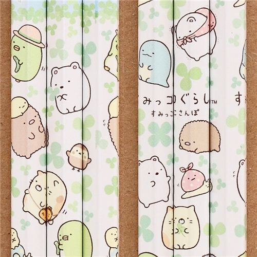 white Sumikkogurashi pencil shy animals meadow clover San-X