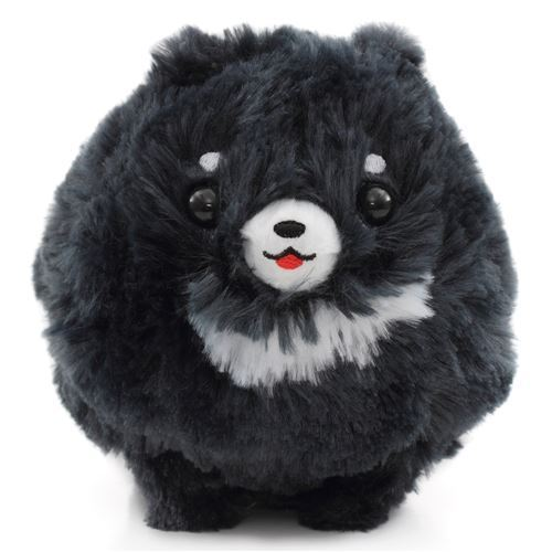 cute fluffy dark grey dog Pometan plush toy Japan