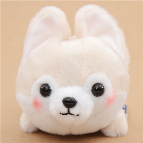 kawaii cream dog red scarf Mameshiba San Kyodai plush toy Japan