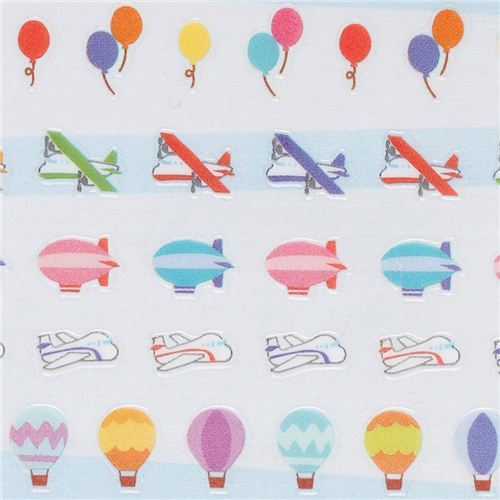 mini airplane vehicle aviation stickers with Masking Tape from Japan