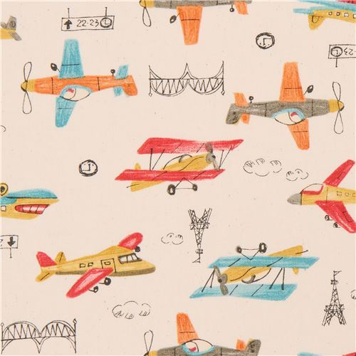 natural color Oxford fabric colorful airplane from Japan
