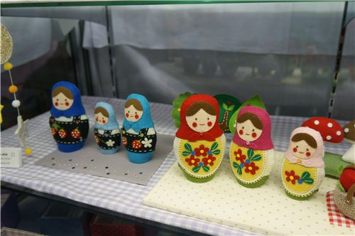 Matryoshkas seem to be a very popular design for felt crafting
